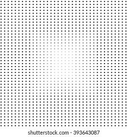 Black and white background with dots. Stock illusion.