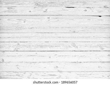 Black and white background of weathered painted wooden plank. Vector illustration
