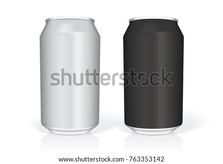 black white beer can easily change stock vector royalty free