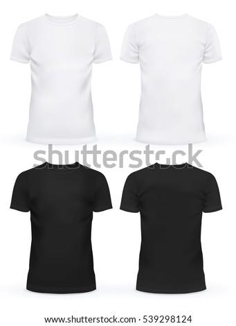 How To Design Cloth | Black White Blank Tshirt Clothing Design Stock Vektorgrafik