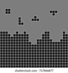 Black white blocks. Vector illustration