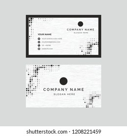 Black and white business card design
