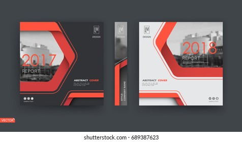 Black, white business card mockup. A4 brochure cover design. Hi tech info banner. Title sheet model set. Modern vector front page art. Urban city house texture. Red line frame icon. Ad flyer text font