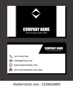 Black and White Business Card Template Vector