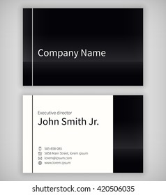 Simple light business card template standard stock vector royalty black and white business card template standard uk 55x85 mm with an bleed area fbccfo Gallery