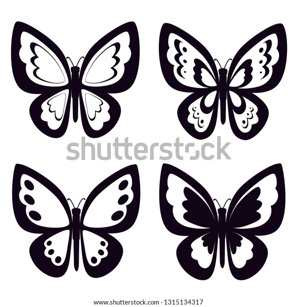 Free Black And White Butterfly, Download Free Clip Art, Free Clip Art on  Clipart Library