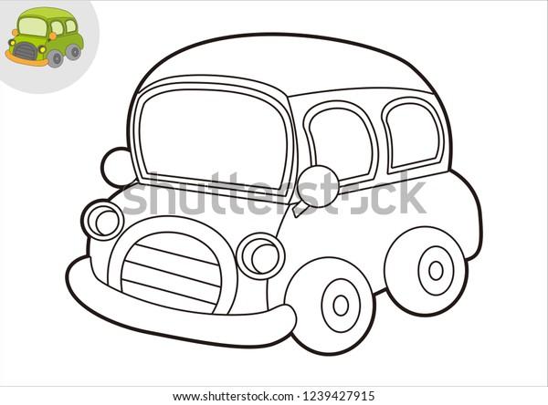 Black Book Car >> Black White Car Line Art Coloring Arkistovektori