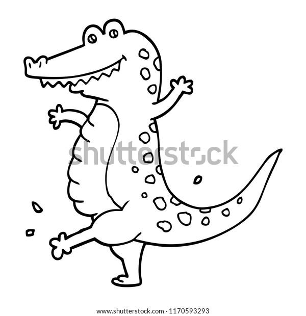 black white cartoon dancing crocodile stock vector royalty free 1170593293 https www shutterstock com image vector black white cartoon dancing crocodile 1170593293
