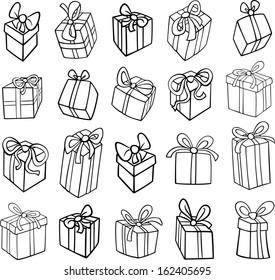 Noël Noir Et Blanc Stock Vectors Images Vector Art
