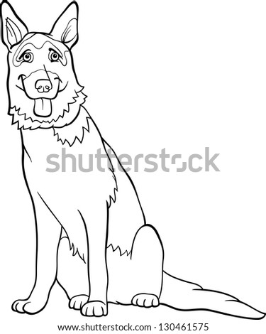 Black White Cartoon Vector Illustration Funny Stock Vector Royalty