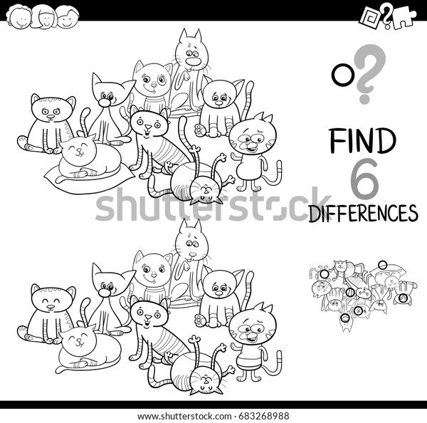 black white cartoon vector illustration 600w