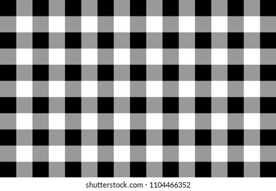Black and white check background or pattern. Retro design. Black and white cubes. Vector background eps10