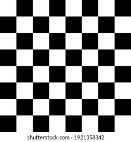 Black and white checkerboard pattern. Seamless vector pattern suitable for fashion, home wares and branding