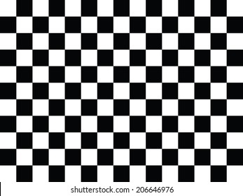 Black and white checkered abstract background.