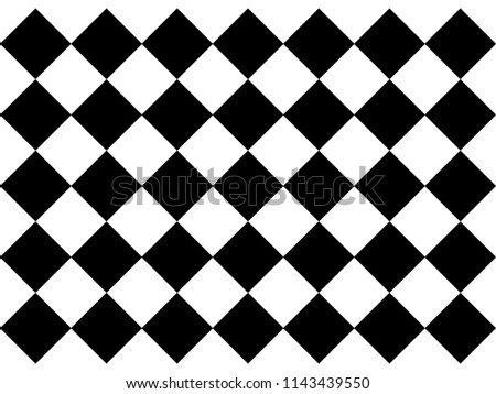 Black White Checkered Floor Tiles Texture Stock Vector Royalty Free