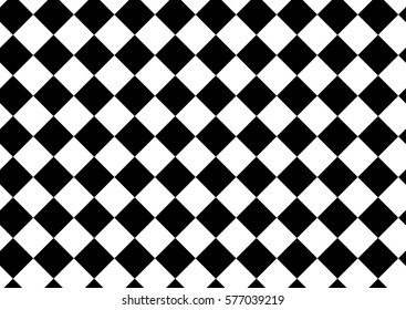 Black and white checkered pattern background.