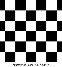 Black and White Checkered Seamless Repeating Pattern Background Vector Illustration