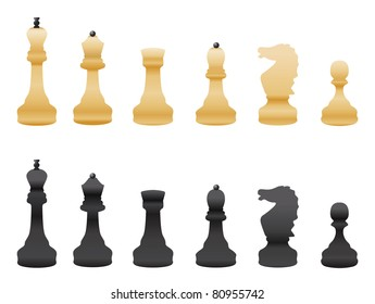 black and white chess vector