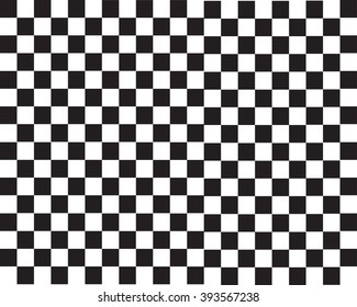 Black and white chessboard. Seamless pattern of black and white squares