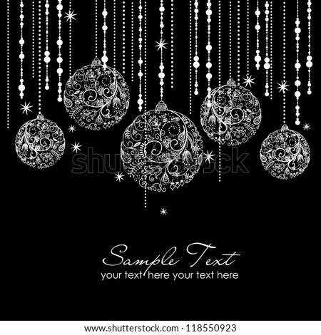 black and white christmas ornaments - Black And White Christmas Ornaments