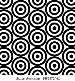 Black and White Circle Pattern. Vector