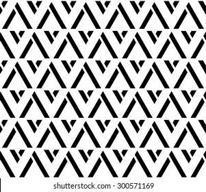 Black and white color up and down V shape seamless pattern background vector.