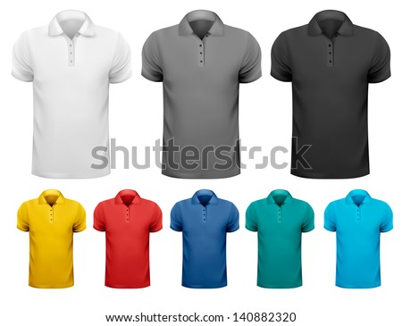 843123ea Black White Color Men Tshirts Design Stock Vector (Royalty Free ...