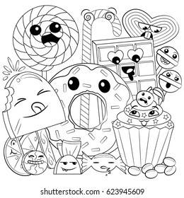 black white coloring page cute 260nw