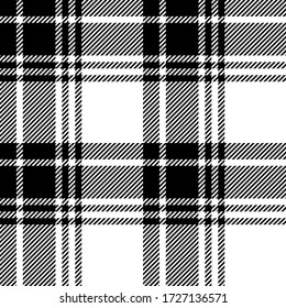 Black and White colors tartan plaid Scottish seamless pattern.Texture from plaid, tablecloths, clothes, shirts, dresses, paper, bedding, blankets and other textile products.