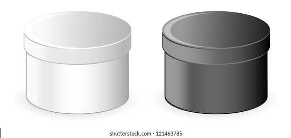 Black and white containers