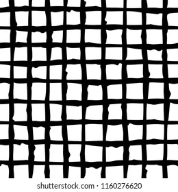 Black & White Criss-Cross Pattern, Textured Drawing, Background Texture, Hand Drawn Seamless Pattern, Textured Lines