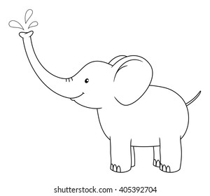 Elephant Outline Images Stock Photos Amp Vectors