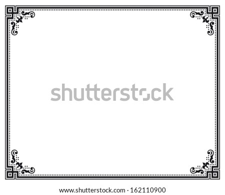 Black White Decorative Vector Frame Stock Vector (Royalty Free ...