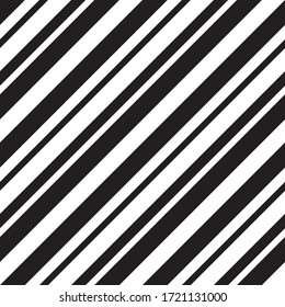 Black and white diagonal striped seamless pattern background suitable for fashion textiles, graphics