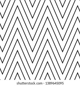 black and white diagonal strips in a zigzag