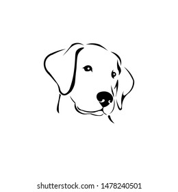 Black & white dog vector.