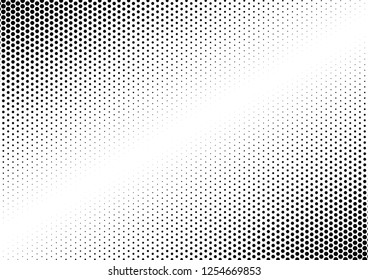Black and White Dots Background. Points Modern Overlay. Monochrome Pattern. Gradient Texture. Vector illustration