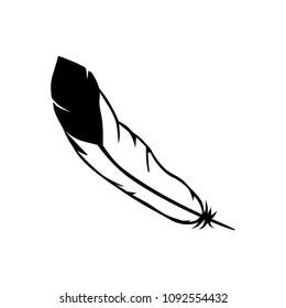 black and white, eagle feather. logo element