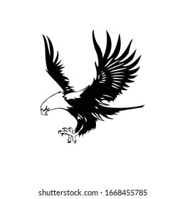 black and white eagle , vector eps 10