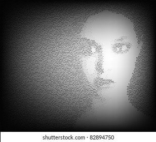 Black and white face