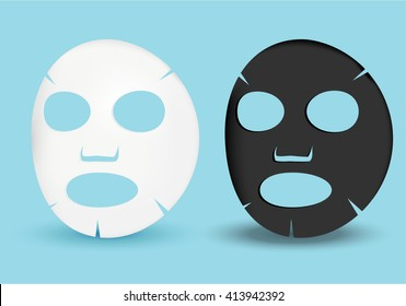 black and white facial sheet mask