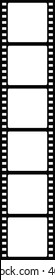 Black and white film strip with six sections, template for your images, photos, design