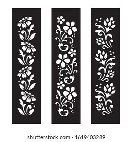 Black and white Floral cut file with temporary tattoo design