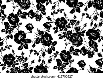 Royalty Free Black And White Floral Pattern Images Stock Photos