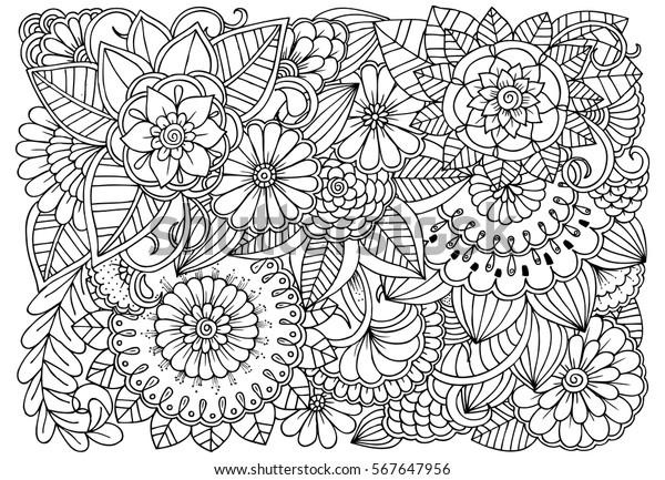 Image Vectorielle De Stock De Motif De Fleur Noir Et Blanc
