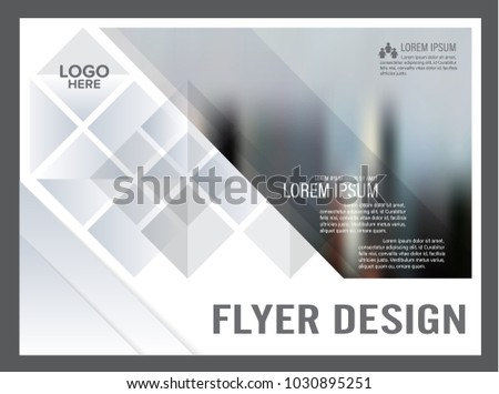 Black White Flyer Design Template Annual Stock Vector Royalty Free