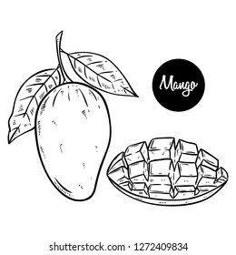 Mango Drawing Images Stock Photos Vectors Shutterstock