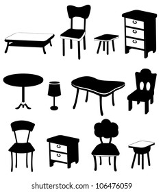 black and white furnitures collection