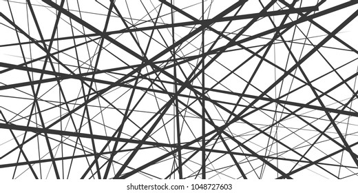 Black and white geometric pattern. Abstract background. Vector stripe, lines. Horizontal speed line pattern.