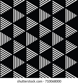black and white geometric pattern abstract vector background. Modern stylish texture.
